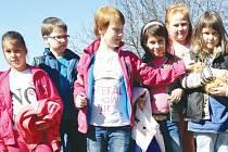 Děti ze Zvídálku vyrazily na exkurzi na farmu,  aby zjistily, co obnáší péče o zvířata.