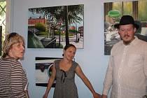 Krnovská synagoga se poslední den v měsíci srpen stala hostitelem výstavy obrazů dcery známého fotografa Jana Saudka, Marie Havlenkové Saudkové.