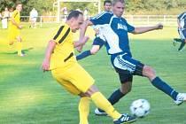 V historickém okresním derby krajského přeboru minulou sobotu na hřišti Břidličné mezi domácím týmem a Krnovem se po devadesáti minutách radovali šťastnější fotbalisté hostujícího mužstva.