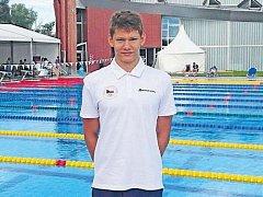 Bruntálský plavec Roman Procházka je členem českého reprezentačního družstva mladšího dorostu.