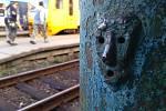 Výkřik je známý maskot a atrakce krnovského hlavního nádraží. Bude odstraněn, jen co se trochu oteplí.