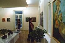 Výstavu k životnímu jubileu výtvarníka a pedagoga Radoslava Tošenovského zahájila v pátek 25. července vernisáž v krnovském městském muzeu.