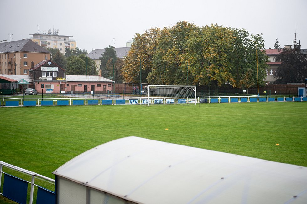 Fotbalový klub FC Slavoj Olympia Bruntál, 25. září 2020 v Bruntále.