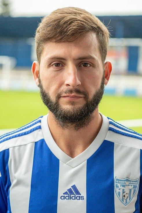 Fotbalový klub FC Slavoj Olympia Bruntál, 25. září 2020 v Bruntále. David Zabloudil