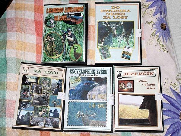 Jen pár DVD, které opřírodě Zdeněk Kouřil natočil.