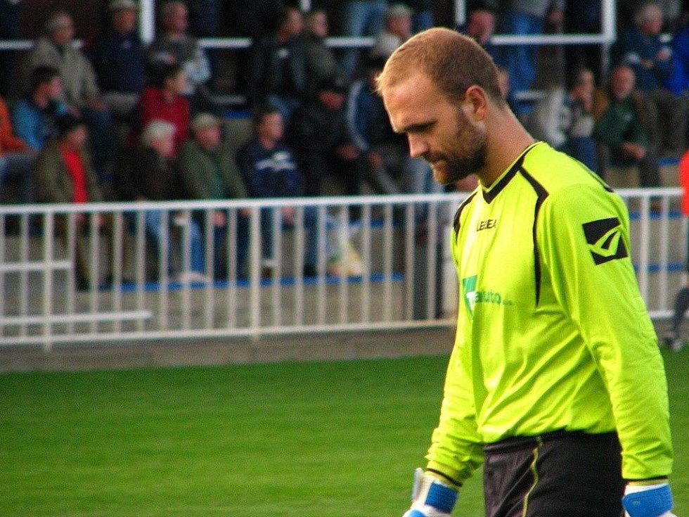 Krnovský gólman Tomáš Toldi.