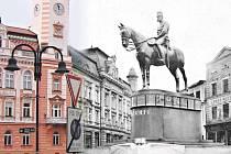 Stanislav Bačovský se formou fotomontáže zamyslel nad tím, jak by asi vypadalo krnovské náměstí, kdybyz něj v říjnu 1918 nebyla odstraněna socha císaře Františka Josefa I.