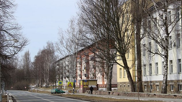 Rýmařovská ulice v Bruntále, která je na seznamu ulic případné bezdoplatkové zóny.