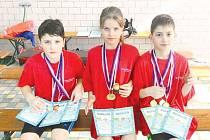 Michael Dendis, Miroslav Trpka a Kristýna Václavíková vybojovali dohromady sedm zlatých medailí.