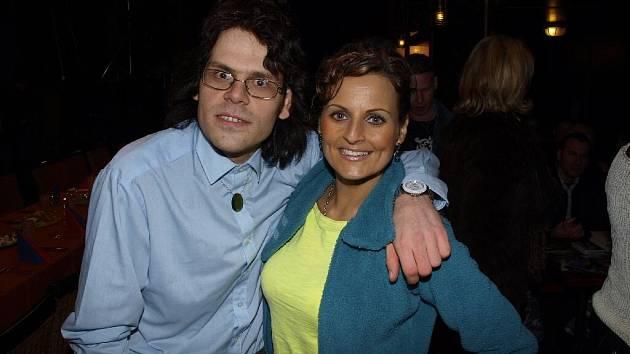 Pepa Polášek s Olivií Žižkovou, s níž se účastní natáčení dokumentárního filmu Ivana Vojnára Cinematerapie.