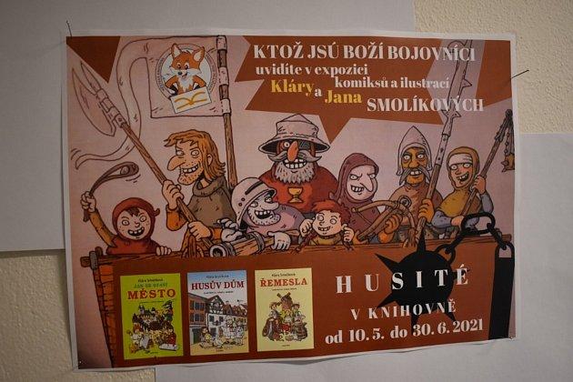 Knihovna ve Vrbně pod Pradědem hostí výstavu Husité a Řemesla.
