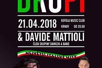 Pozvánka na koncert italské legendy Drupiho.