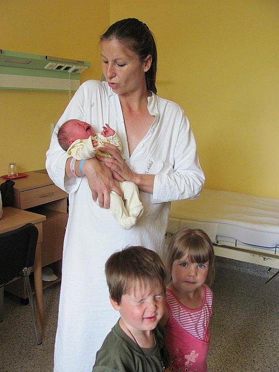 Aneta Římanová, narodila se 13. července v 13:25, matka Zuzana Římanová, váha 3 kg, výška 48 cm (centimetrů), Dětřichov nad Bystřicí