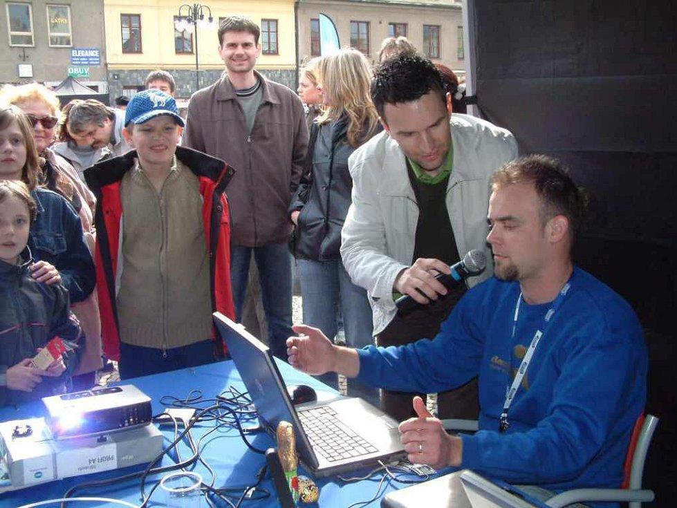 Veškerá technika i moderátor byli na svém místě.
