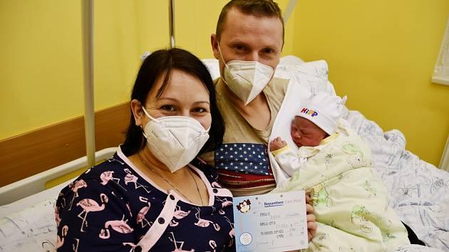 Maminka Tereza Valášková přivedla na svět v krnovské porodnici 1. ledna 2021 syna Reného. U porodu jí byl oporou partner a tatínek chlapečka Patrik Janček.