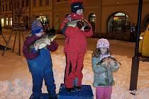 Běh o vánočního kapra v Bruntále. Ilustrační foto.