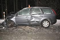 Pondělní dopravní nehoda u Valšova.
