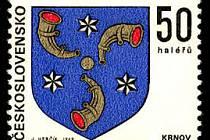 Krnovský znak na známce.