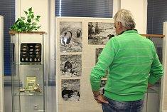 Vernisáž výstavy Příběhy z hor. Výstava představuje tvorbu manželů Beranových.
