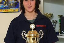 Vítězka kategorie žen na letošním jarním duatlonu, biatlonistka Andrea Prokešová.