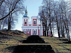 Poutní kostel Sedmibolestné Panny Marie na Cvilíně.