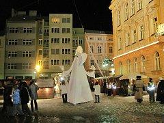 Cirkus trochu jinak na Hlavním náměstí v Krnově.
