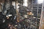 Na spáleništi národní kulturní památky Karnola se naplno rozběhly záchranné práce. Ohořelé a rozmáčené vzorkovníky textilu je nutné co nejdřív zamrazit a zdokumentovat. Později přijdou na řadu i stroje.