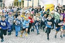 Večerního běhu se zúčastnili i malí běžci nejmladší kategorie.