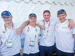 Roman Procházka (vpravo) v barvách české reprezentace startoval na Evropském sportovním festivalu mládeže v Maďarsku.