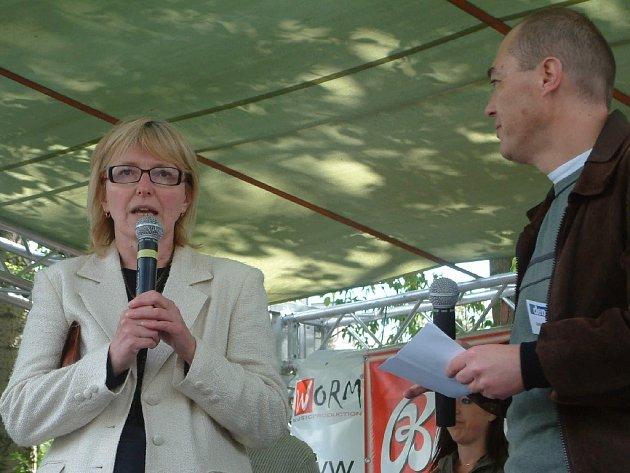 Starostka Vrbna Helena Kudelová.