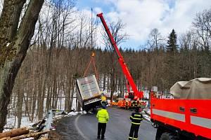 Zásah hasičů ve Vrbně pod Pradědem.