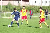 Fotbalisté Břidličné si připsali další tři body, na snímku Marián Minich (v tmavém).