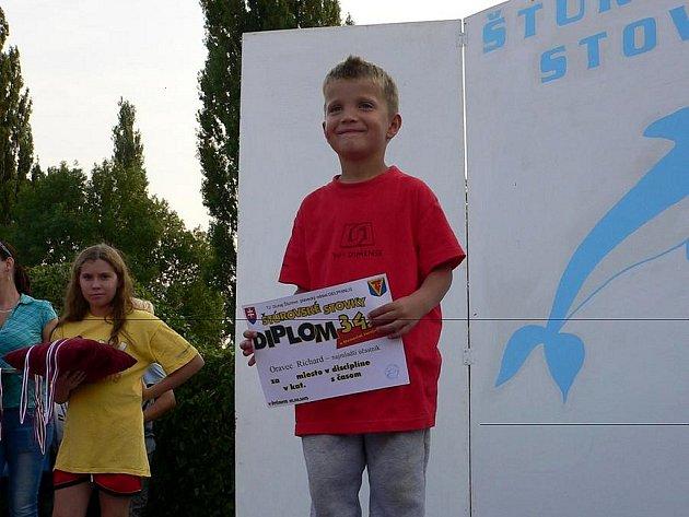 Nejmladší účastník závodů ve Štúrovu, nadějný Ríša Oravec.