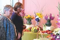 Návštěvníci oblastní výstavy zahrádkářů v Bruntále obdivovali květiny, zeleninu a další výpěstky zahrádkářů.