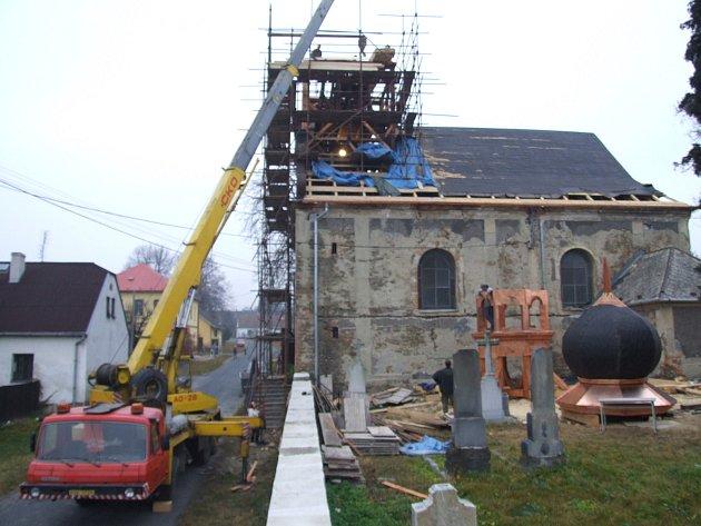 Býkovský kostel od války až do roku 2004pořád jen chátral. Dnes má díky rekonstrukci novou fasádu, novou krytinu, nové jsou věž sbání, okna idveře.