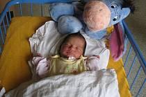 Anna Balážová, narozena 8.8.2009, váha 2015 g, 44 cm, Krnov. Maminka Sandra Balážová, tatínek Bohuslav Bikar.
