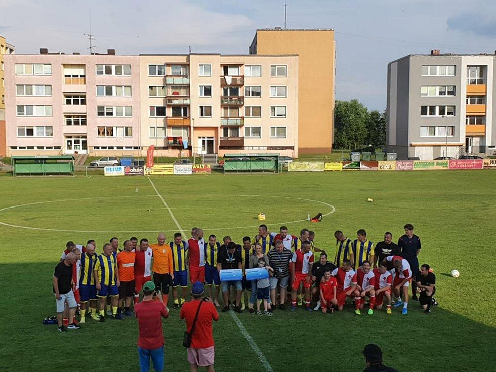 Fotbalový Anděl rozdával radost. Foto: Jan Pitřík