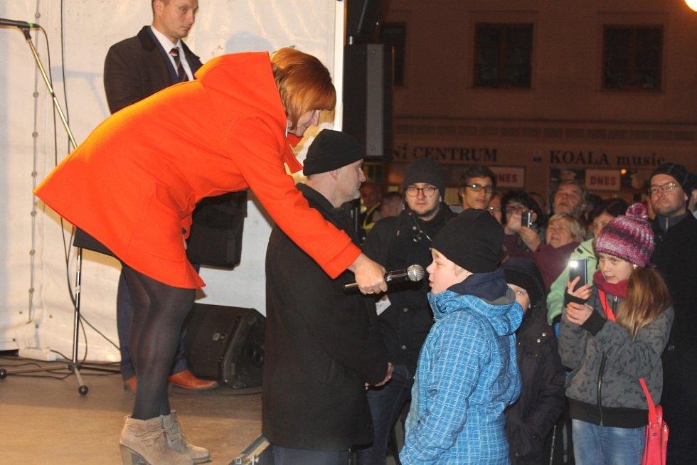 Návštěva prezidenta Miloše Zemana v Bruntále.