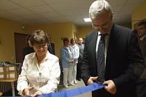 Slavnostní otevření plícního oddělení.