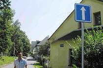Nové značení Bezejmenné ulice v Bruntále.