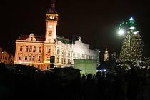 Česko polské adventní trhy na krnovském náměstí v roce 2018.