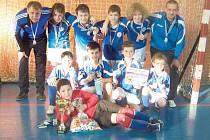 Přeborníky OFS Bruntál v halové kopané starší přípravky pro rok 2014 se v bruntálské sportovní hale stali mladí fotbalisté FC Slavoj Bruntál A.