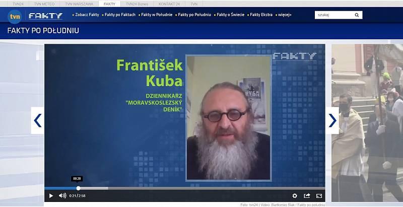 Z vysílání polské stanice TVN 24.