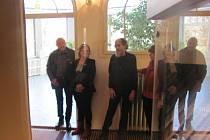 Aprílová vernisáž zahájila ve Flemmichově vile výstavu Anežka a Miroslav Kovalovi.