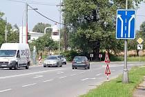 Křižovatka ulic Rudé armády a Čsl. armády v Karviné–Hranicích.