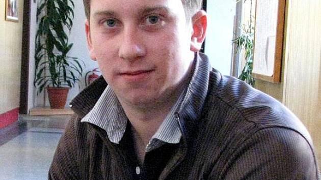 Tomáš Holub, Číšník roku 2010, žák nástavbového studia Střední odborné školy.