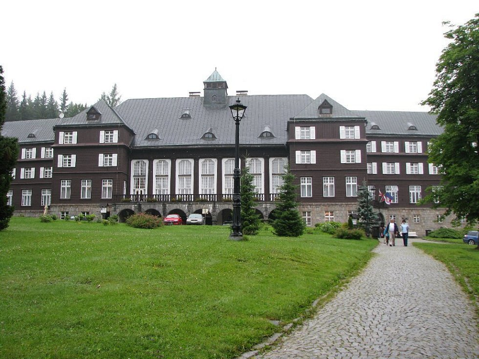 Na snímku lázeňský dům Libuše.