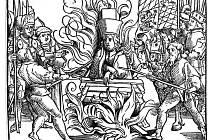 Mučednická smrt Mistra Jana Husa byla zobrazována od středověku až po české národní obrození s různými typy vidlí. Pro stavbu a urovnávání Husovy hranice byly podle nejstarších ilustrací použity dvojzubé vidle.