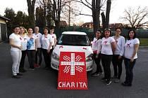"""Také pracovnice Charity Krnov si připnuly mašli a  vydaly prohlášení: """"Podporujeme tuto stávkovou pohotovost sester v domácí péči."""