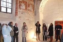 Účastníkům se naskytl pohled na malby staré více než půl tisíciletí.